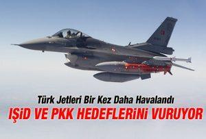 بمباران مواضع تروریستهای پ.ک.ک و داعش توسط جنگنده های ارتش ترکیه