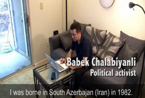 فیلم پروفایل فعال سیاسی بابک چلبیانی در برنامه صدای آمریکا
