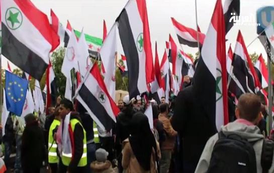 تظاهرات صدها عرب اهوازی مقابل مقر سازمان ملل متحد در وین
