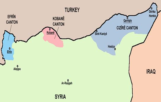 """مخالفت صریح دولت های """"سوریه، آمریکا و ترکیه""""  با اعلام خودمختاری """"پ.ی.د"""" در شمال سوریه"""