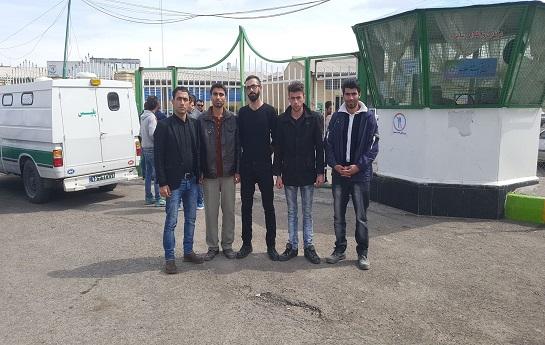 پنج فعال ملی- مدنی آزربایجانی برای سپری کردن دوران محکومیت خود وارد زندان مرکزی اردبیل شدند