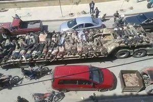 گرداندن اجساد جنگی در خیابانهای شهر توسط «ی.پ.گ»