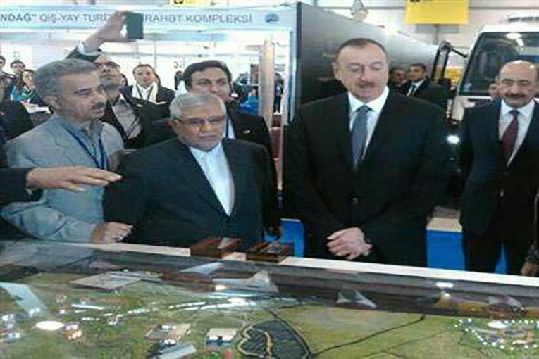 بازدید رئیس جمهور آزربایجان از غرفه جاذبههای گردشگری آزربایجان شرقی