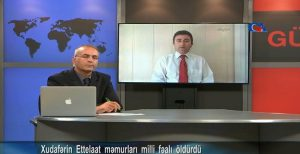 مصاحبه بابک چلبیانی با گوناز تی وی در مورد به قتل رسیدن فعال ملی در...