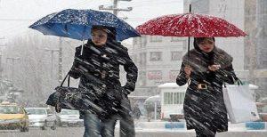 قطع برق و تعطیلی مدارس به دنبال بارش برف در اردبیل