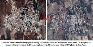 دیدهبان حقوق بشر: روستاهای عربی توسط کُردهای عراق ویران میشود + فیلم