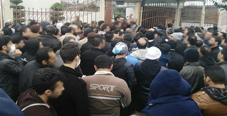 تجمع کارگران لیفتراک سازی در تبریز