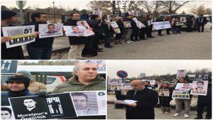 برگزاری تجمع حمایت از مرتضی مراد پور و سایر زندانیان سیاسی آزربایجان جنوبی در آنکارا