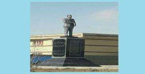 تندیس شاعر تورک در همدان نصب شد (تصویر)