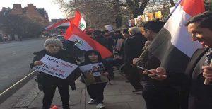 تظاهرات و اعلام همبستگی با مردم مظلوم الأحواز مقابل پارلمان اروپا در بروكسل