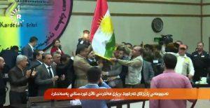 نصب پرچم اقلیم کردستان عراق در ادارات دولتی کرکوک