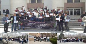 دانشجویان دانشگاه اورمیه،علیرغم مداخله حراست دانشگاه یاد جانباختگان حادثه سیل آزربایجان را گرامی داشتند
