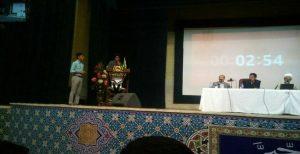 سخنرانی دانشجوی هویتطلب علی درگاهی در مراسم مناظره انتخاباتی دانشگاه اورمیه و قطع میکروفون توسط...