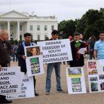 تجمع فعالین حرکت ملی آزربایجان در مقابل کاخ سفید به مناسبت قیام یک خرداد١٣٨۵ -تصاویر