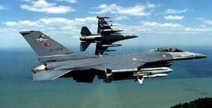 بمباران مواضع گروه تروریستی پ ک ک توسط جنگنده های تورکیه