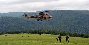 شهادت ۱۳ نظامی تورکیه در حادثه سقوط هلیکوپتر نظامی