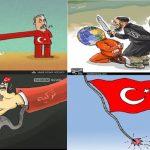 خبرگزاری های سپاه کدام کاریکاتورها را بعد از ترورهای داعش در تورکیه منتشر کردند