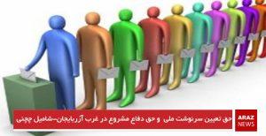 حق تعیین سرنوشت ملی و حق دفاع مشروع در غرب آزربایجان-شامیل چچنی