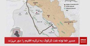 مسیر خط لوله نفت کرکوک به ترکیه اقلیم را دور میزند