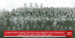 بیانیه مشترک احزاب و گروههای سیاسی حرکت ملی آزربایجان به مناسبت هفتاد و دومین سالگرد...