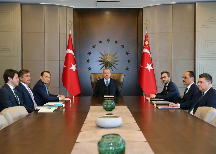 رئیس جمهور ترکیه با دبیرکل شورای تورک دیدار کرد