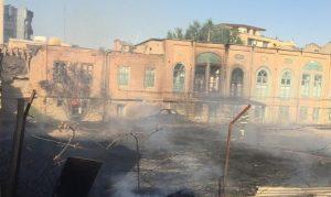 خانه قاجاری انصاری در اورمیه در آتش سوخت