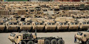 انتقال عظیم نیروی نظامی به یک پایگاه نظامی در عراق توسط آمریکا!