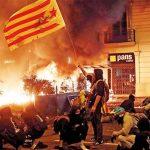 اعتراض هواداران استقلال کاتالونیا به بازداشت رهبران استقلالطلب