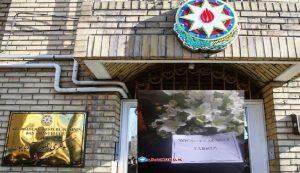 اهدای دسته گل یابود به کنسول گری جمهوری آزربایجان در سالگرد فاجعه نسل کشی خوجالی