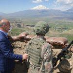وزیر کشور ترکیه: هم اکنون حدود صد تروریست پ.ک.ک در منطقه ماکو ایران حضور دارند