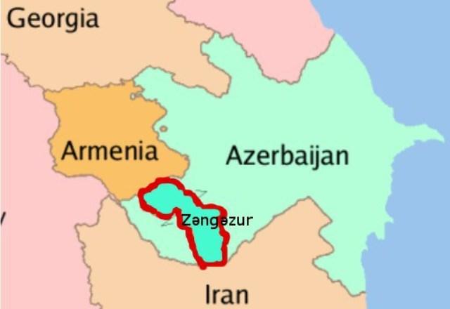آذربایجانین تاریخی اراضیسی اولان زنگهزور، ارمنیستانا نئجه وئریلدی؟