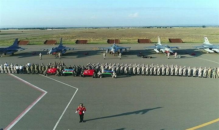 جنگندههای اف-۱۶ ترکیه وارد آزربایجان شدند