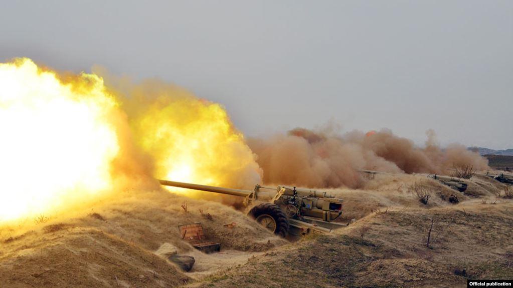 حمله توپخانهای ارتش اشغالگر ارمنستان به ارتش آزربایجان