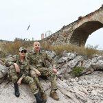 دیدار رئیسجمهور آزربایجان[شمالی] از پل تاریخی خدافرین،«پل حسرت»