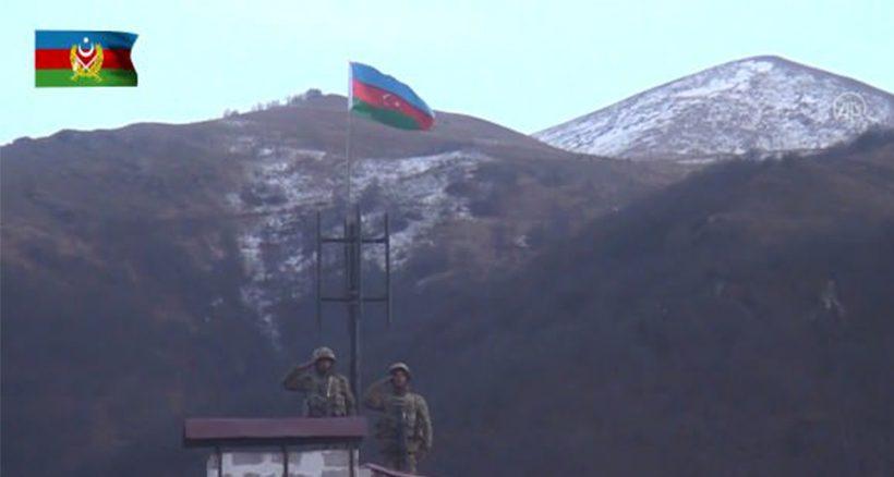 ارتش آزربایجان پرچم مقدس آزربایجان را در کلبجر به اهتزاز درآورد