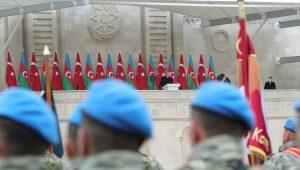 مراسم پرشکوه رژه پیروزی در آزربایجان [شمالی] با حضور رئیس جمهور ترکیه – تصاویر