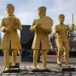 نصب مجسمههای «تکمچی» در شاه گؤلو