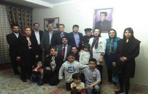 دیدار جمعی از فعالین آزربایجانی با خانواده شهید غلامرضا امانی + تصویر