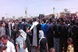 تظاهرات شهروندان عرب در اعتراض به اعدام تبعیضآمیز دو جوان اهوازی