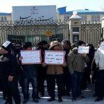 تجمع کارگران کارخانه ذوبآهن اردبیل مقابل استانداری