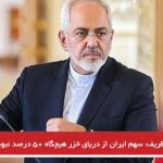 ظریف: سهم ایران از دریای خزر هیچگاه ۵۰ درصد نبوده است