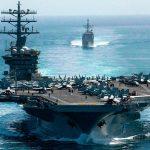 ناو هواپیمابر ایالات متحده در خلیج میماند