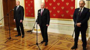 پایان مذاکرات سه جانبه روسیه آذربایجان و ارمنستان بر سر قره باغ
