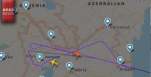 پروازهای تجسسی هواپیماهای ایران برای شناسایی اقدامات نظامی آزربایجان شمالی