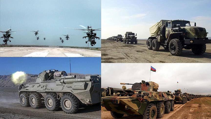 جمهوری آزربایجان با مشارکت ۱۵ هزار سرباز رزمایش برگزار کرد