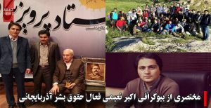 مختصری از بیوگرافی اکبر نعیمی فعال حقوق بشر آذربایجانی