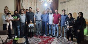 دیدار جمعی از فعالین ملی اورمیه با روزبه پیری پس از آزادی از زندان مرکزی...